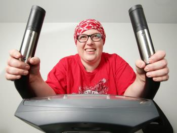 Raelle Smit says exercise has helped increase her strength while receiving chemo.  Picture: Norm Oorloff