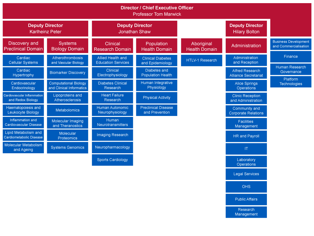 Baker Institute organisational structure